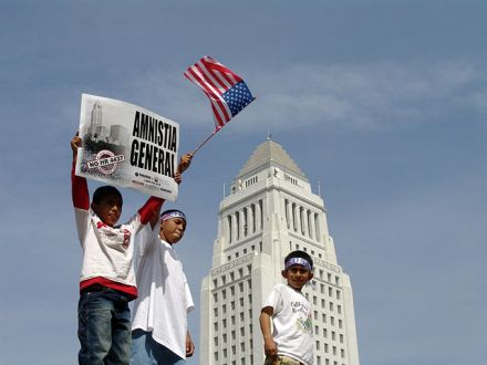 May Day Immigration March in Los Angeles